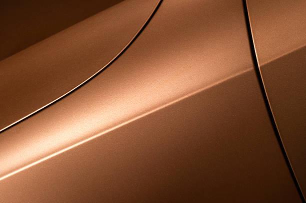 Bronze sedan bodywork stock photo