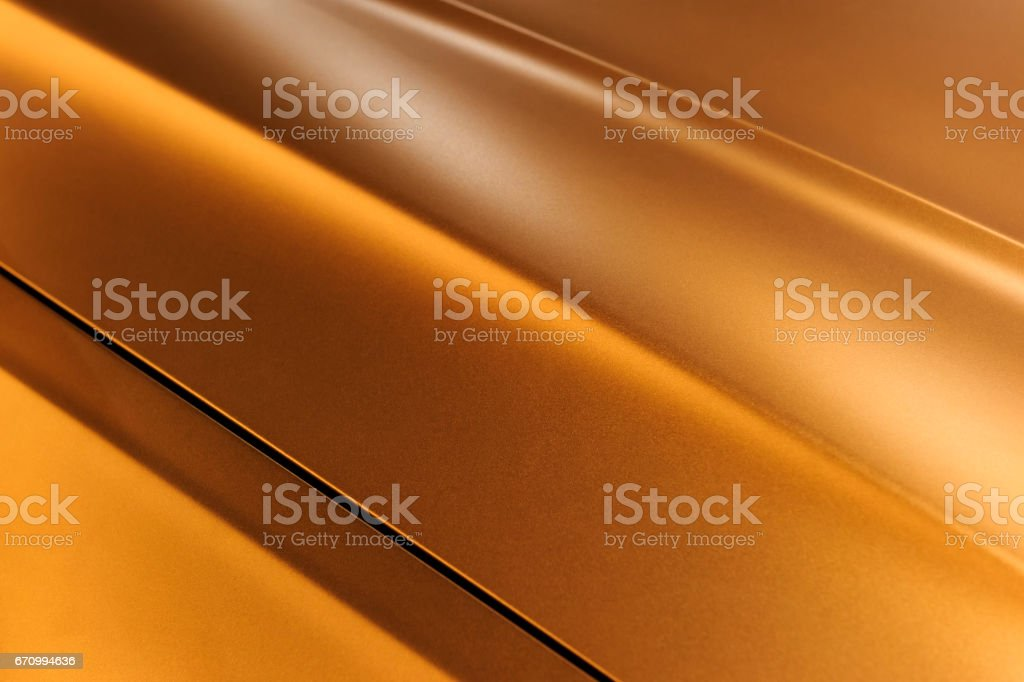 Bronze sedan bodywork stock photo
