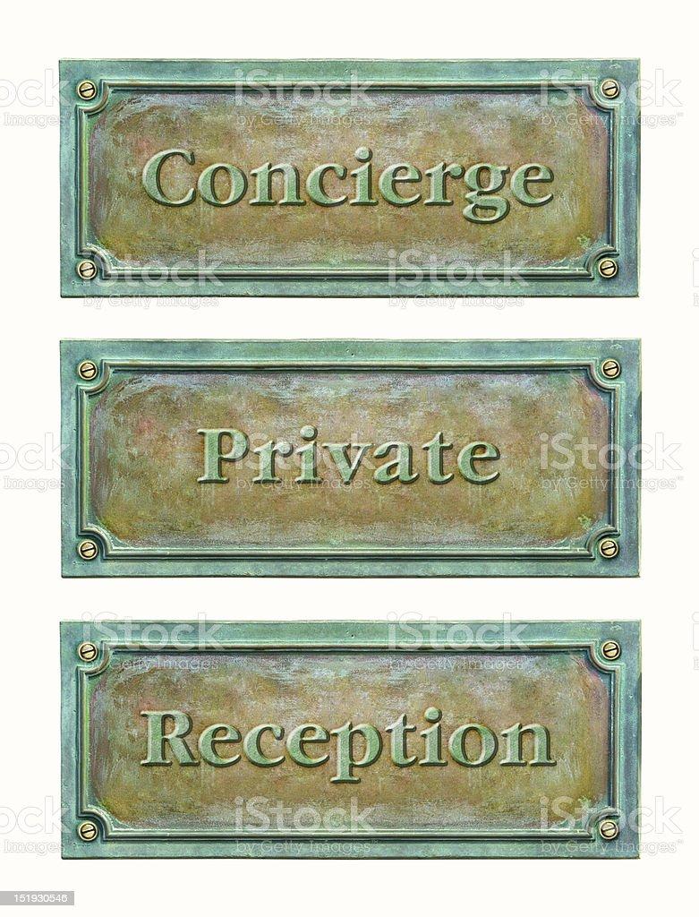 Bronze sign plaque royalty-free stock photo