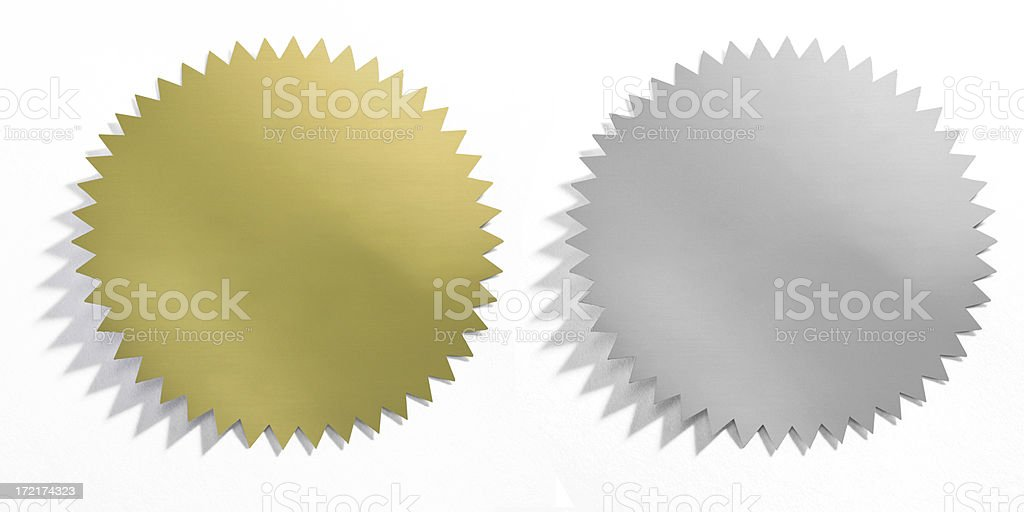 Bronze & Silver Medallions stock photo