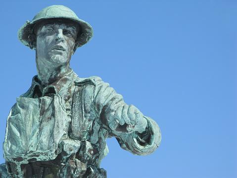 Bronze soldier.