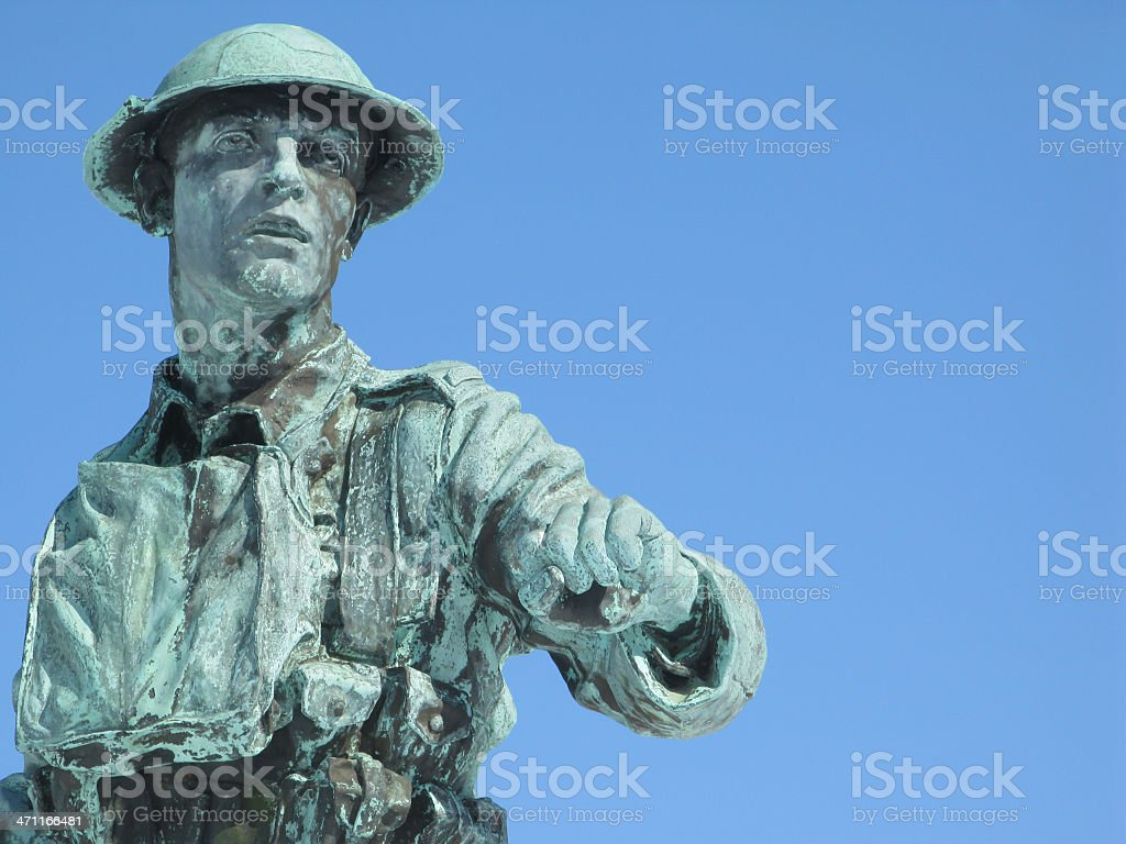 Bronze soldier. stock photo