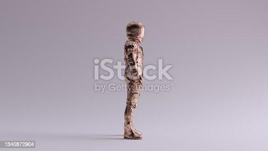 istock Bronze Spaceman Astronaut Cosmonaut Retro Style 1340872904