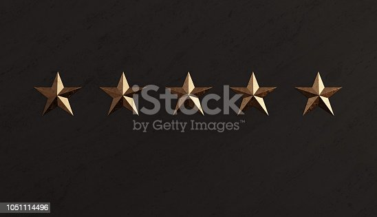 istock Bronze Star and Black Marble Memorial Wall 1051114496