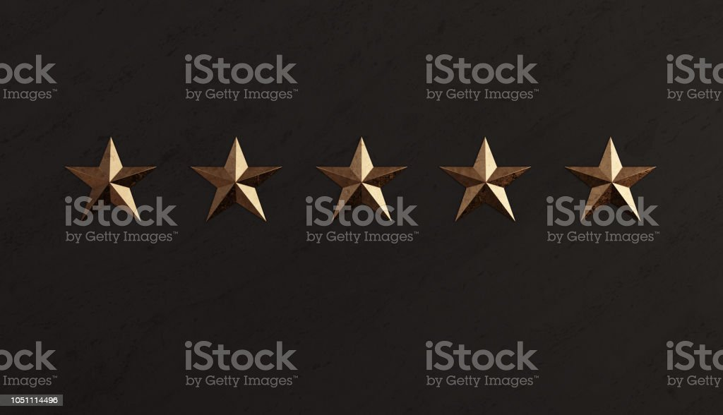 Bronze Star and Black Marble Memorial Wall stock photo