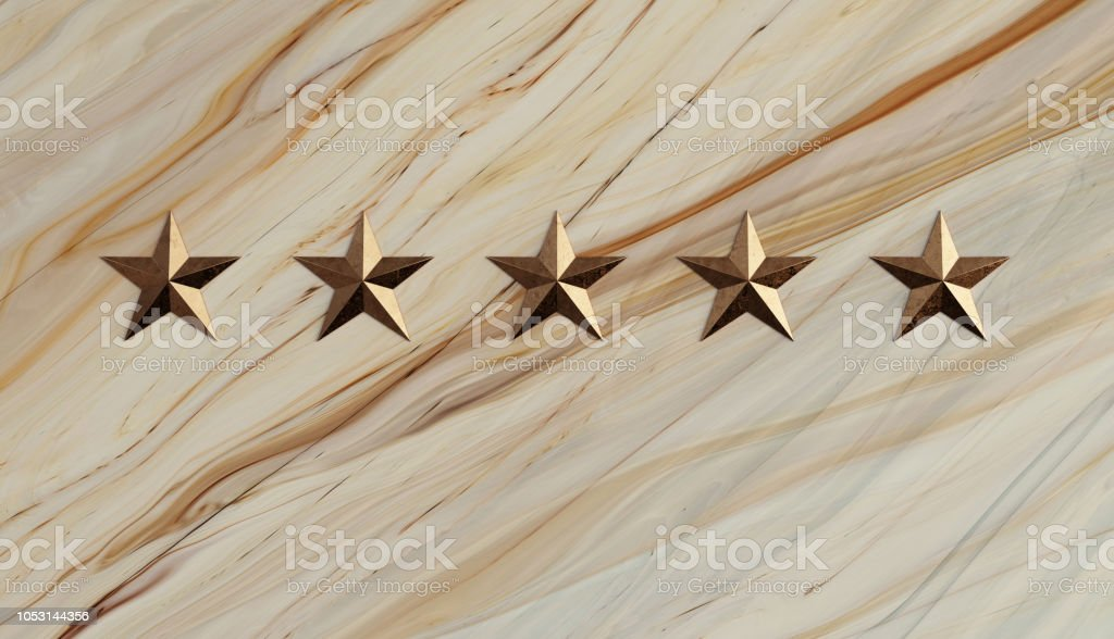 Bronze Star and White Marble Memorial Wall stock photo