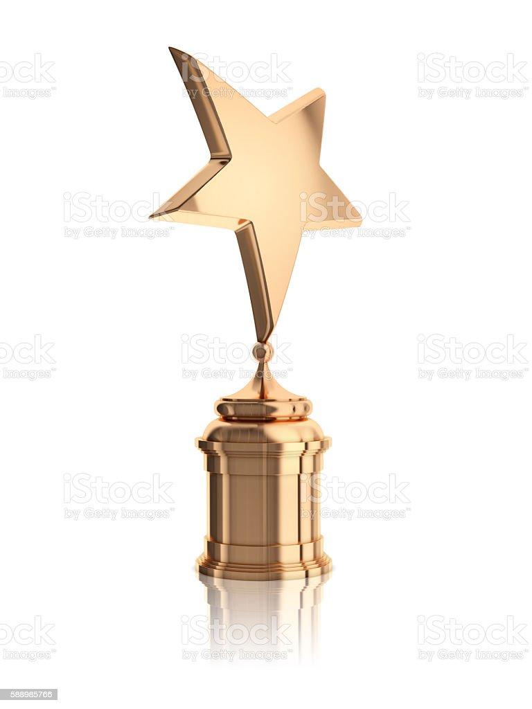 bronze star award stock photo