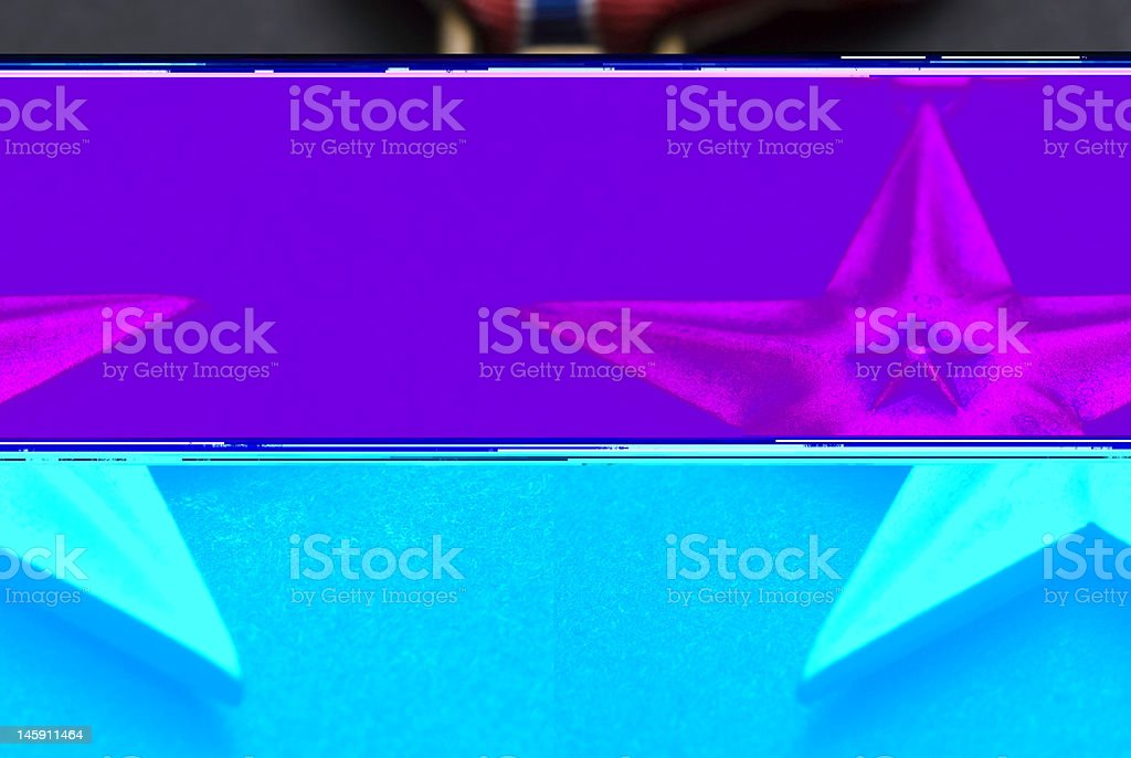 Bronze Star Closeup stock photo