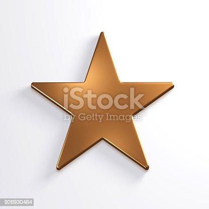 871072052 istock photo Bronze Star Icon. 3D Render Illustration 926930464
