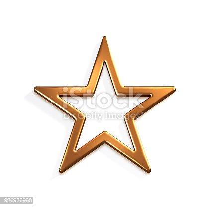 871072052 istock photo Bronze Star Icon. 3D Render Illustration 926936968