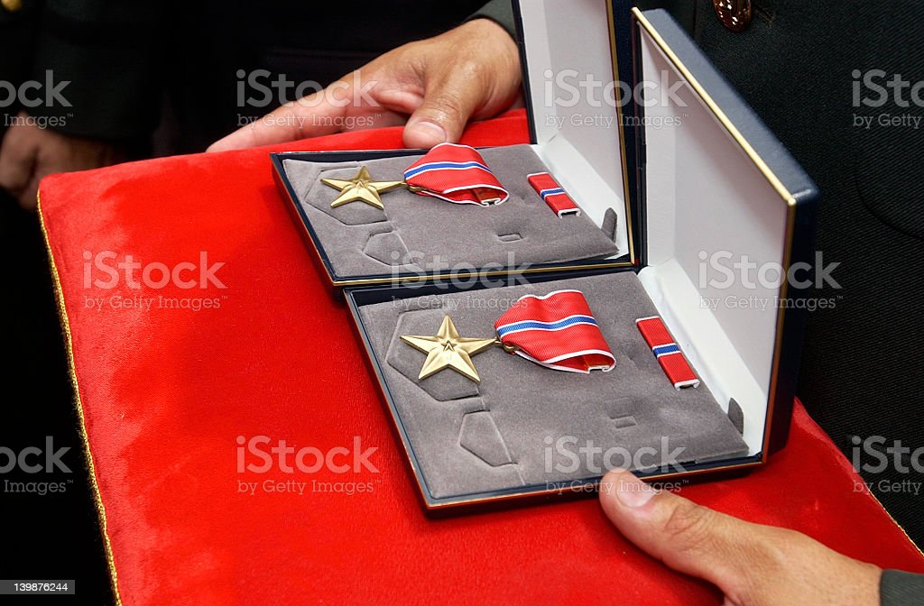 Bronze Star royalty-free stock photo
