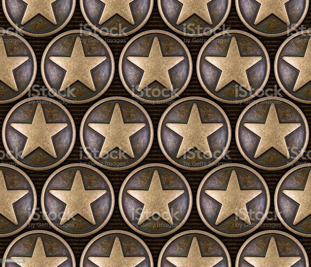 Bronze star seamless pattern stock photo