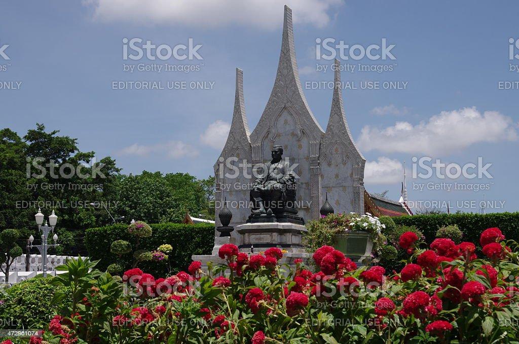Bronze statue in Bangkok stock photo