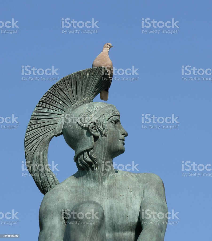 Bronze Statue of ancient Greek Hero Theseus stock photo