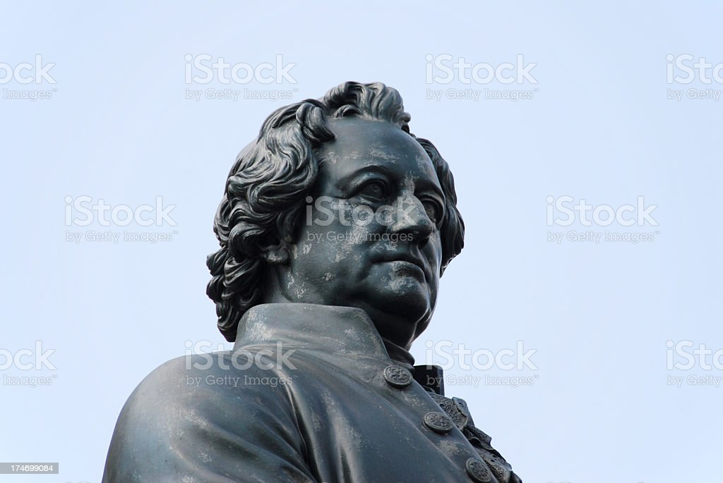 Bronze statue of Johann Wolfgang von Goethe in Germany stock photo