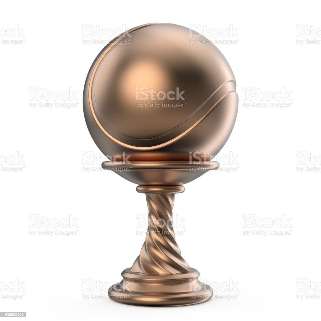 Bronze trophy cup TENNIS 3 stock photo