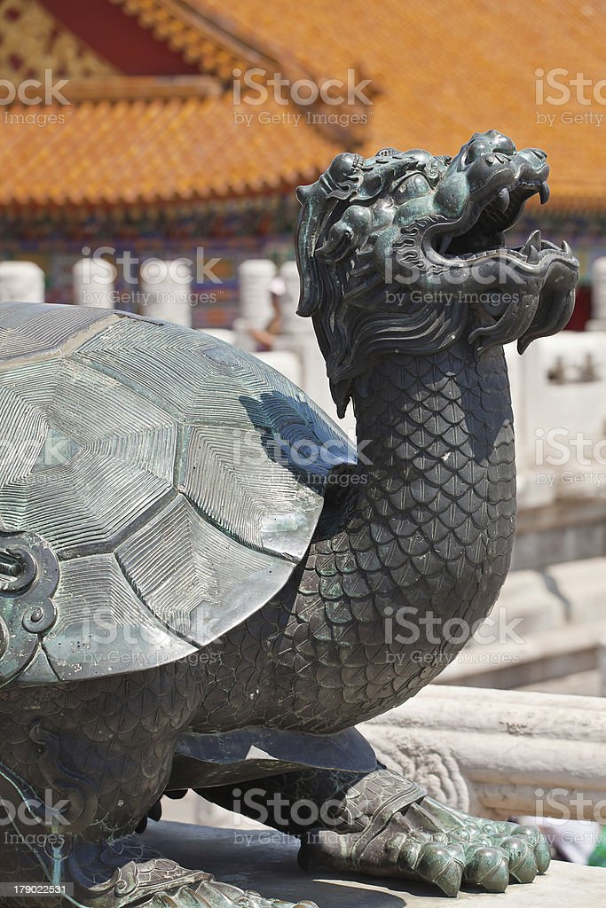 Bronze turtle in China Emperor Forbidden city royalty-free stock photo