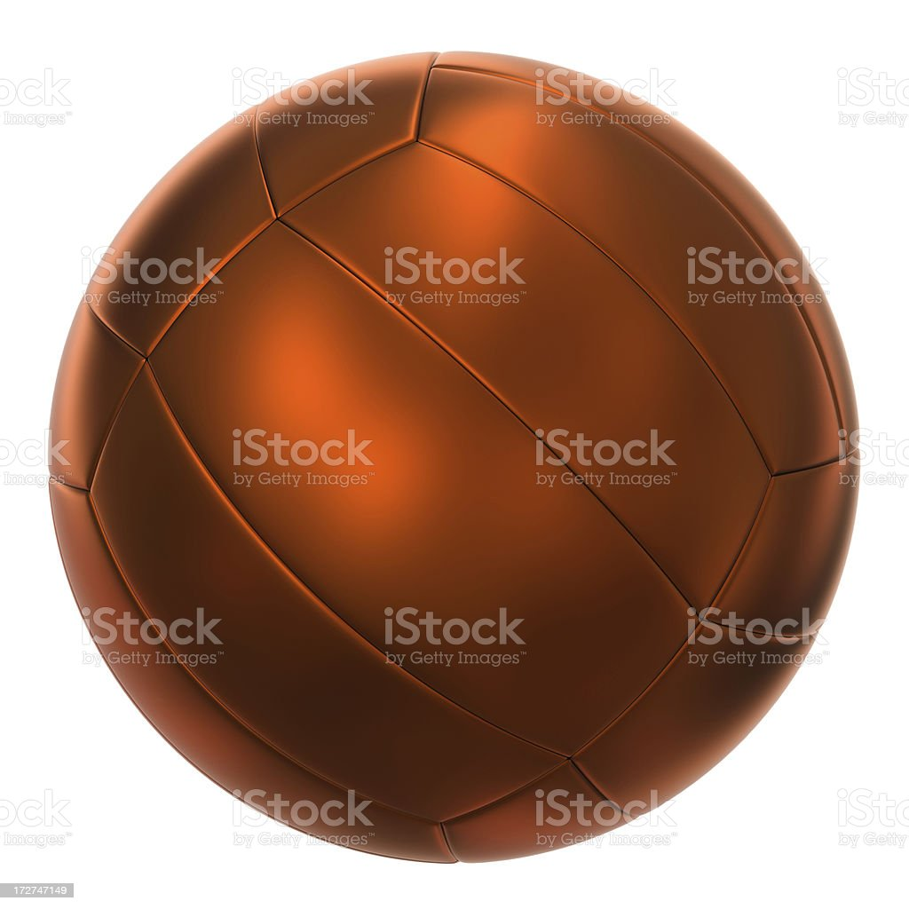 Bronze volley ball royalty-free stock photo