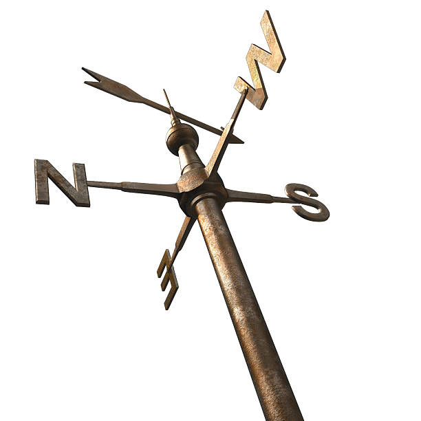 Bronze weathervane post with top arrow Weathervane weather vane stock pictures, royalty-free photos & images
