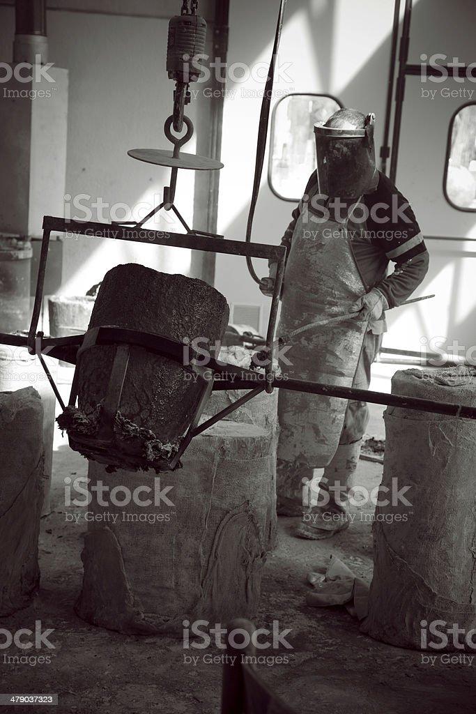 Bronze Worker royalty-free stock photo