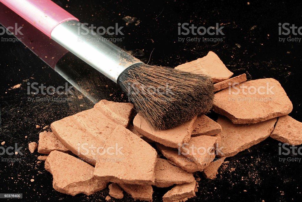 bronzer and brush royalty-free stock photo
