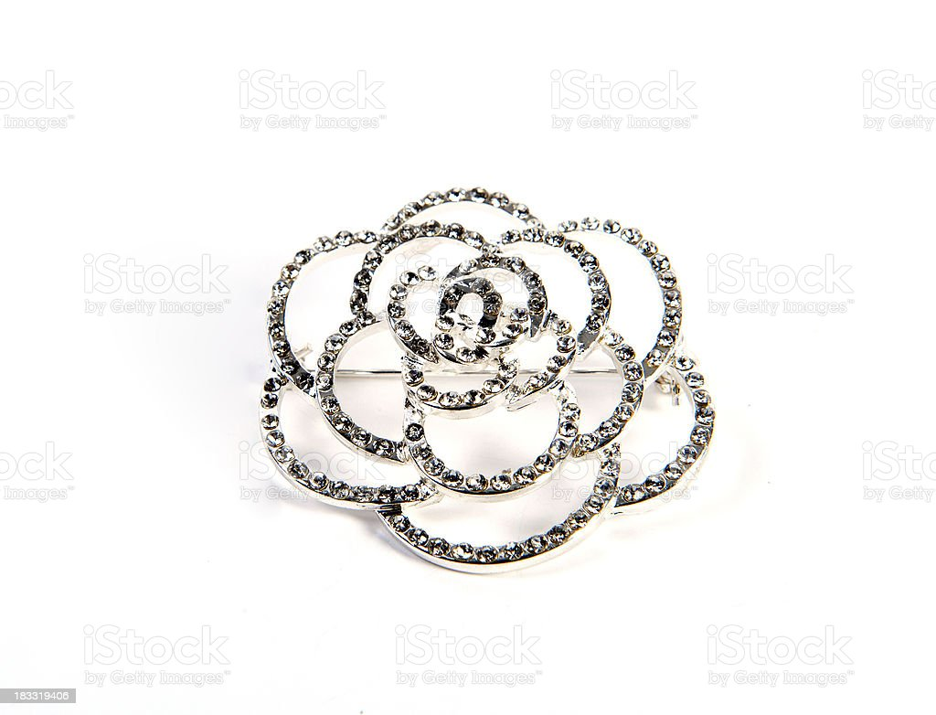 brooch isolated royalty-free stock photo