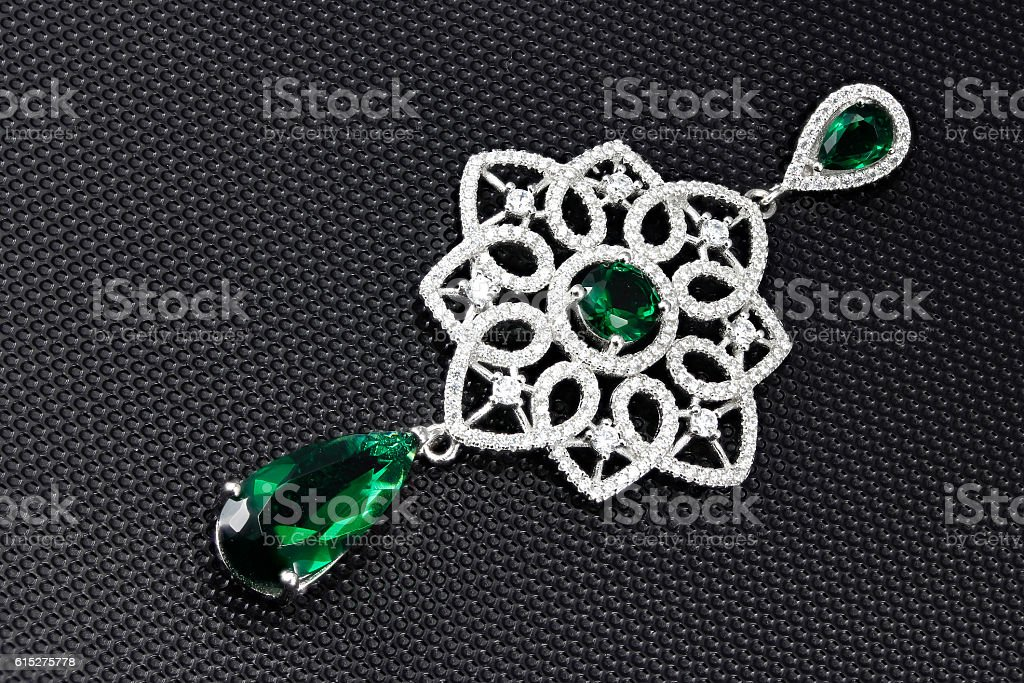 Brooch jewel stock photo