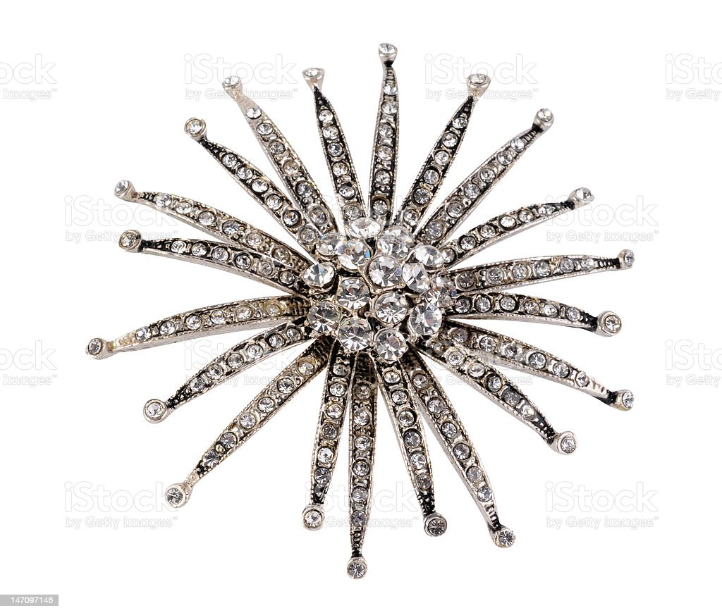 brooch solated on the white background royalty-free stock photo