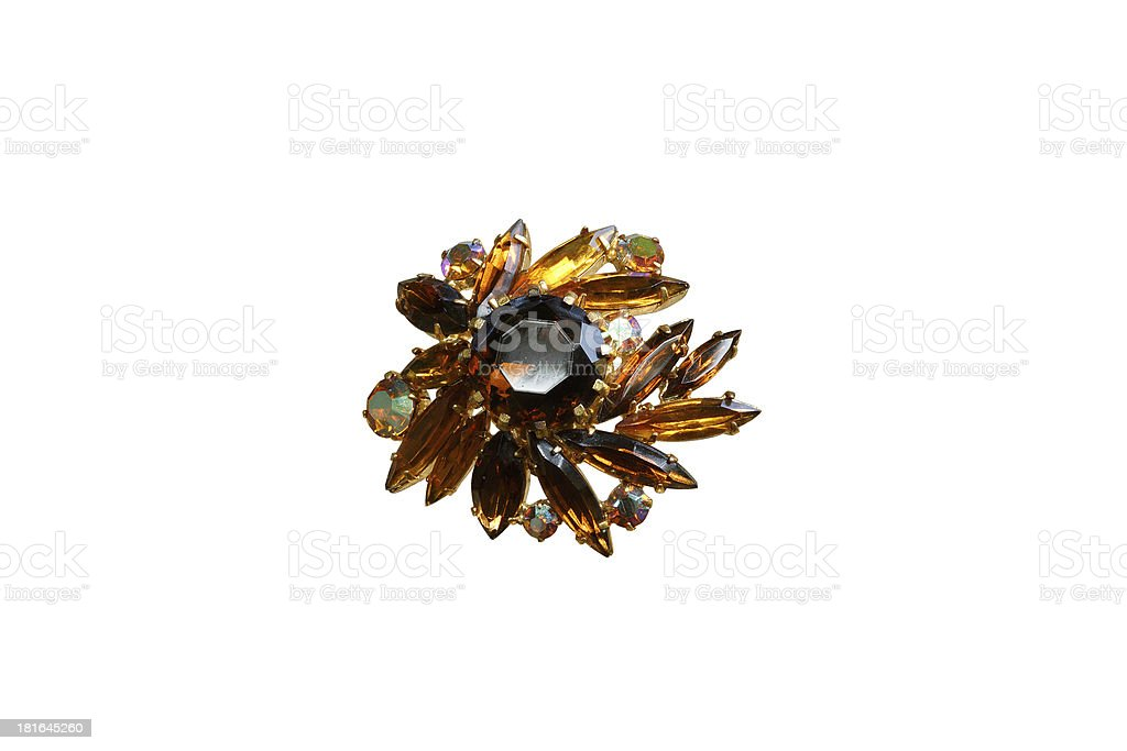 brooch with stones royalty-free stock photo