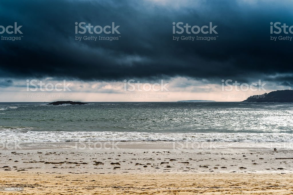 Brooding Storm at the Beach royalty-free stock photo