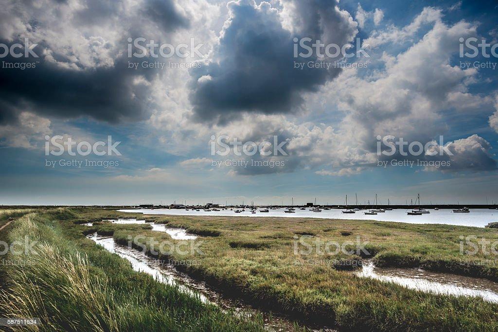 Brooding Suffolk Landscape stock photo