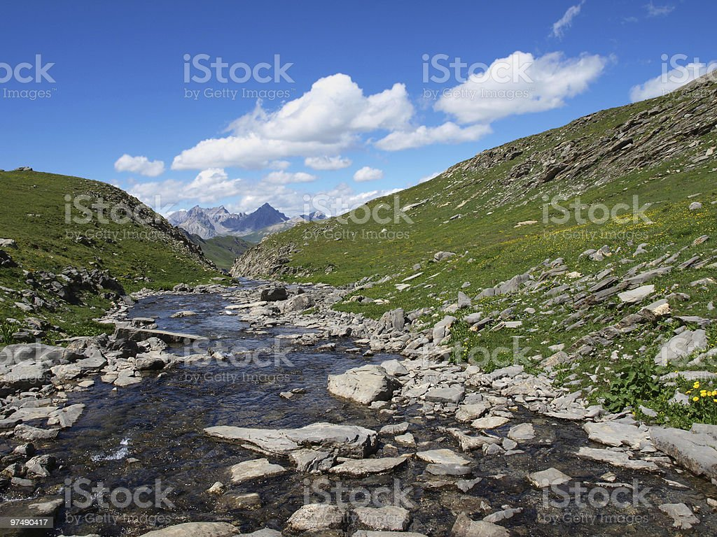 brook in the Alps royalty-free stock photo