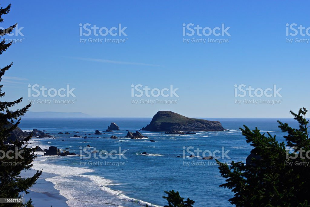 Brookings Seastacks stock photo