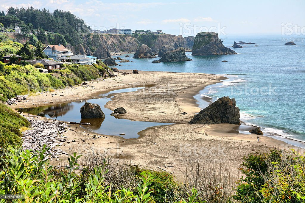 Arch Rock Sunset at Harris Beach Oregon Coast Photography PNW Wall Art Prints