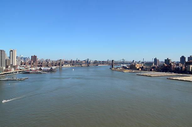 Brooklyn and Manhattan Bridge stock photo