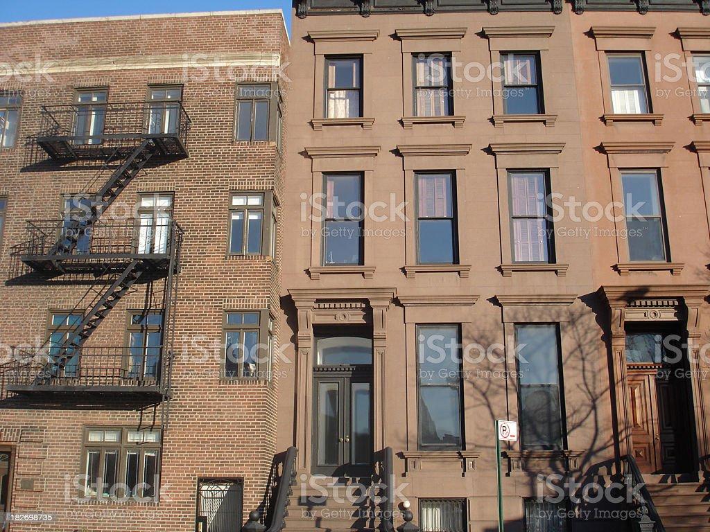 Brooklyn Apartments royalty-free stock photo