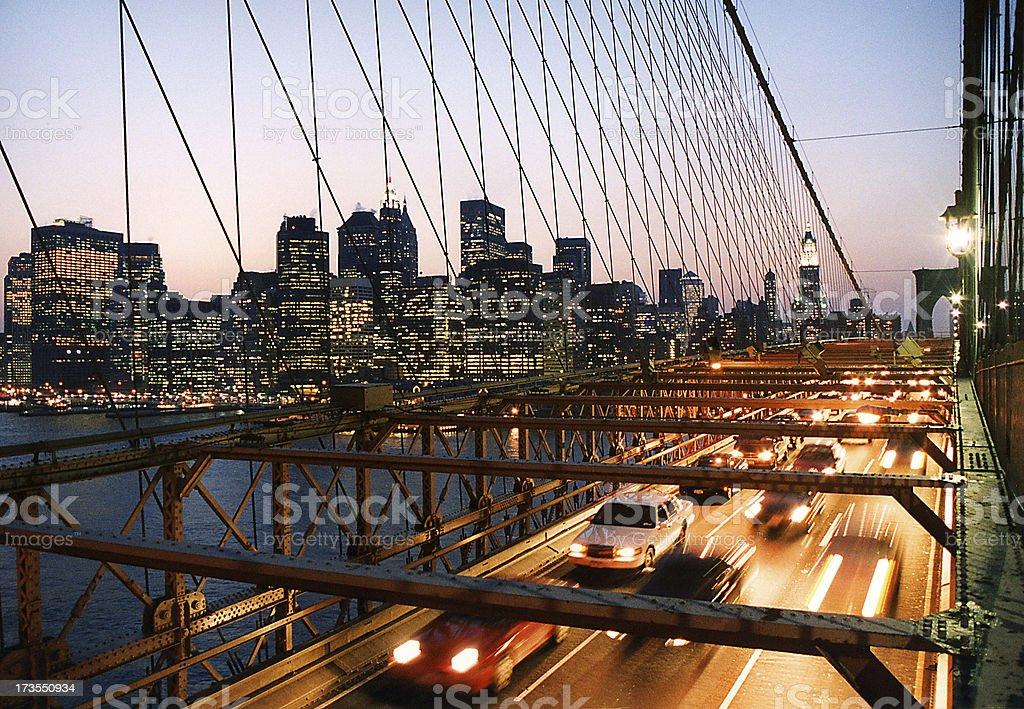 Brooklyn Bridge & Manhattan Skyline royalty-free stock photo