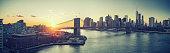 istock Brooklyn bridge and Manhattan at sunset 1141594113