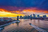 istock Brooklyn bridge and Manhattan at sunset 1190126255