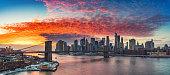 istock Brooklyn bridge and Manhattan at sunset 1193340041