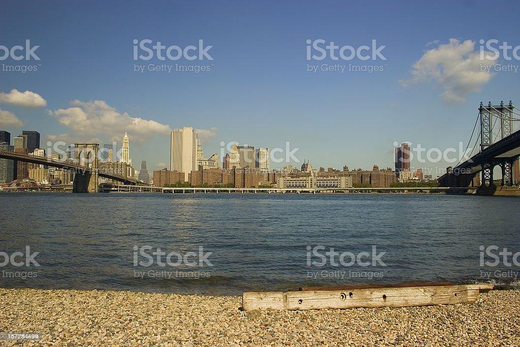 Brooklyn Bridge and Manhattan bridges 12684 royalty-free stock photo