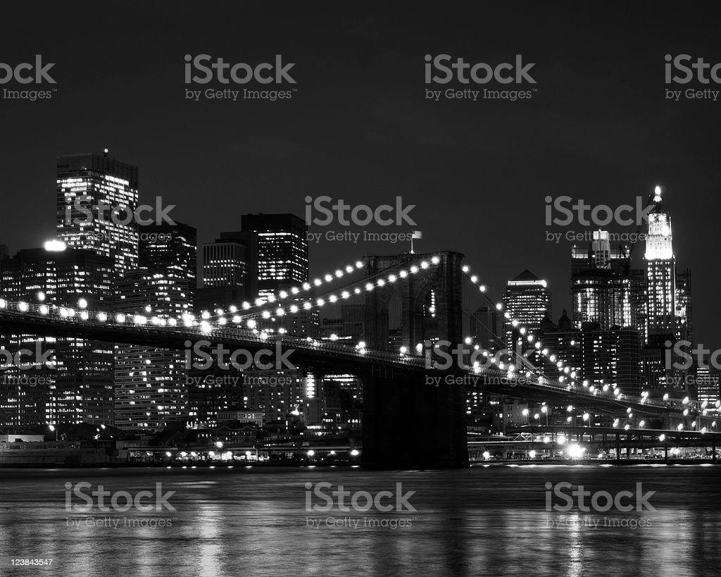 Brooklyn Bridge and New York City royalty-free stock photo