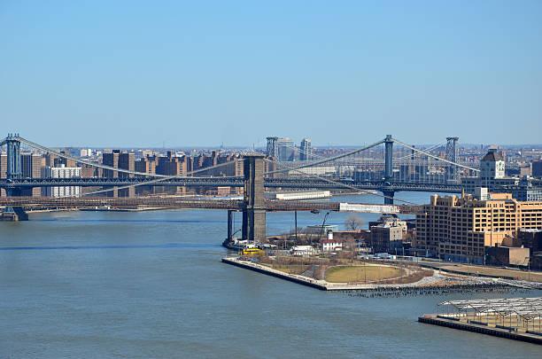 Brooklyn Bridge and Park stock photo