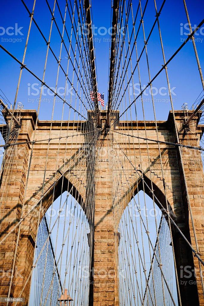 Brooklyn Bridge Arch New York City stock photo