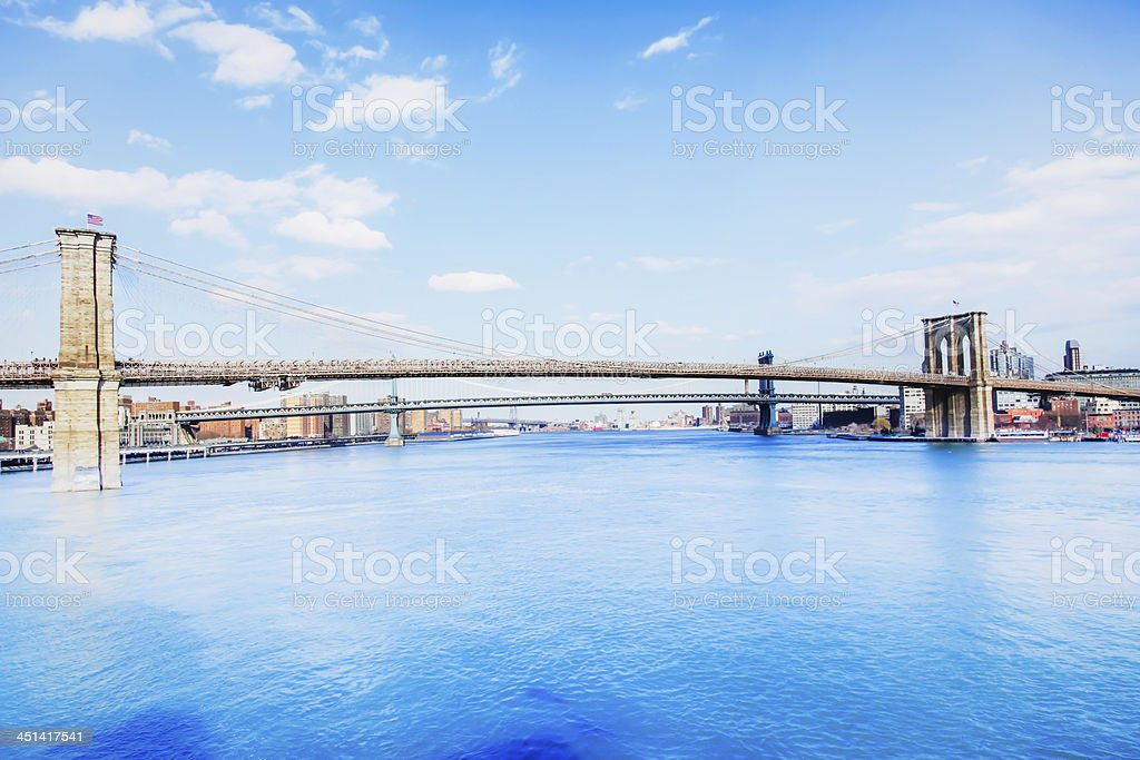 Brooklyn Bridge at a Good Day royalty-free stock photo