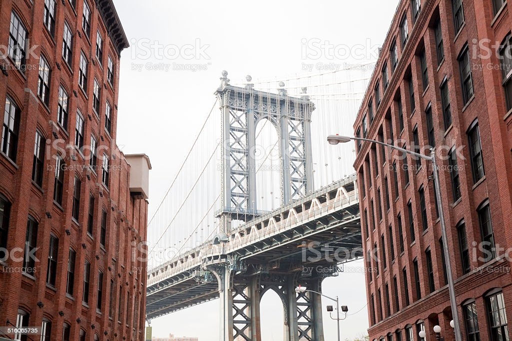 Brooklyn Bridge at New York City stock photo