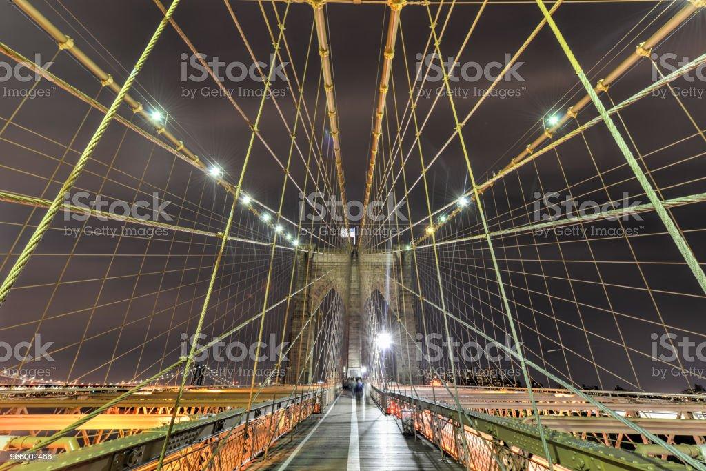 Brooklyn Bridge at Night - Royalty-free Architecture Stock Photo