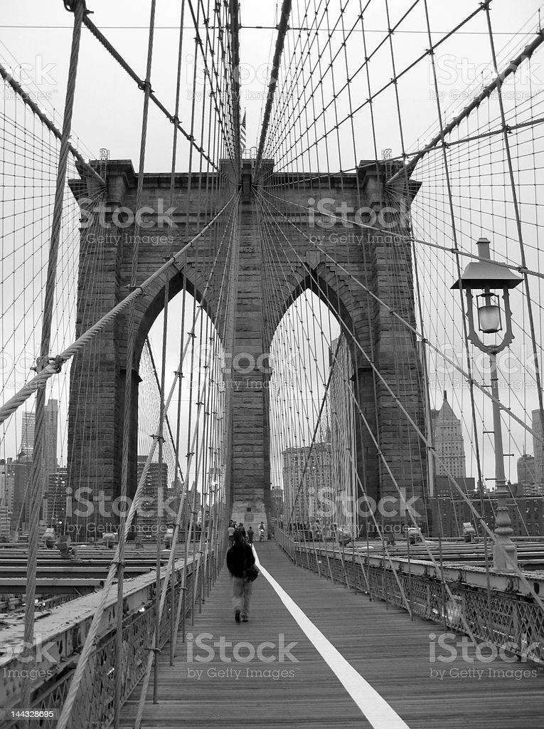Brooklyn Bridge Black and White royalty-free stock photo