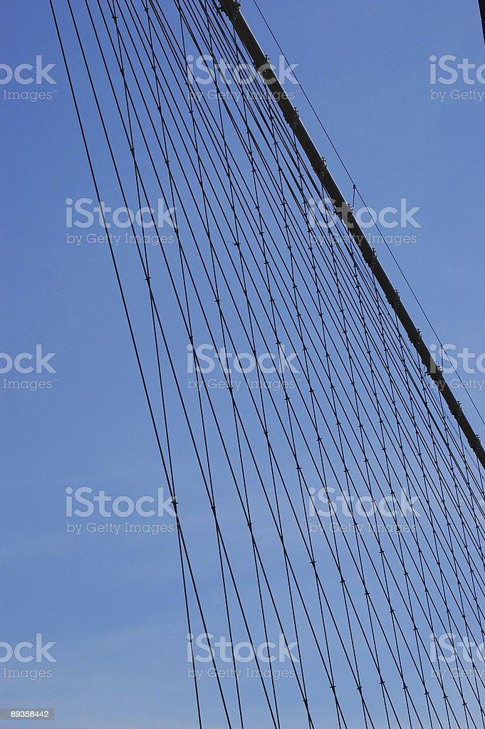Brooklyn Bridge cables royaltyfri bildbanksbilder