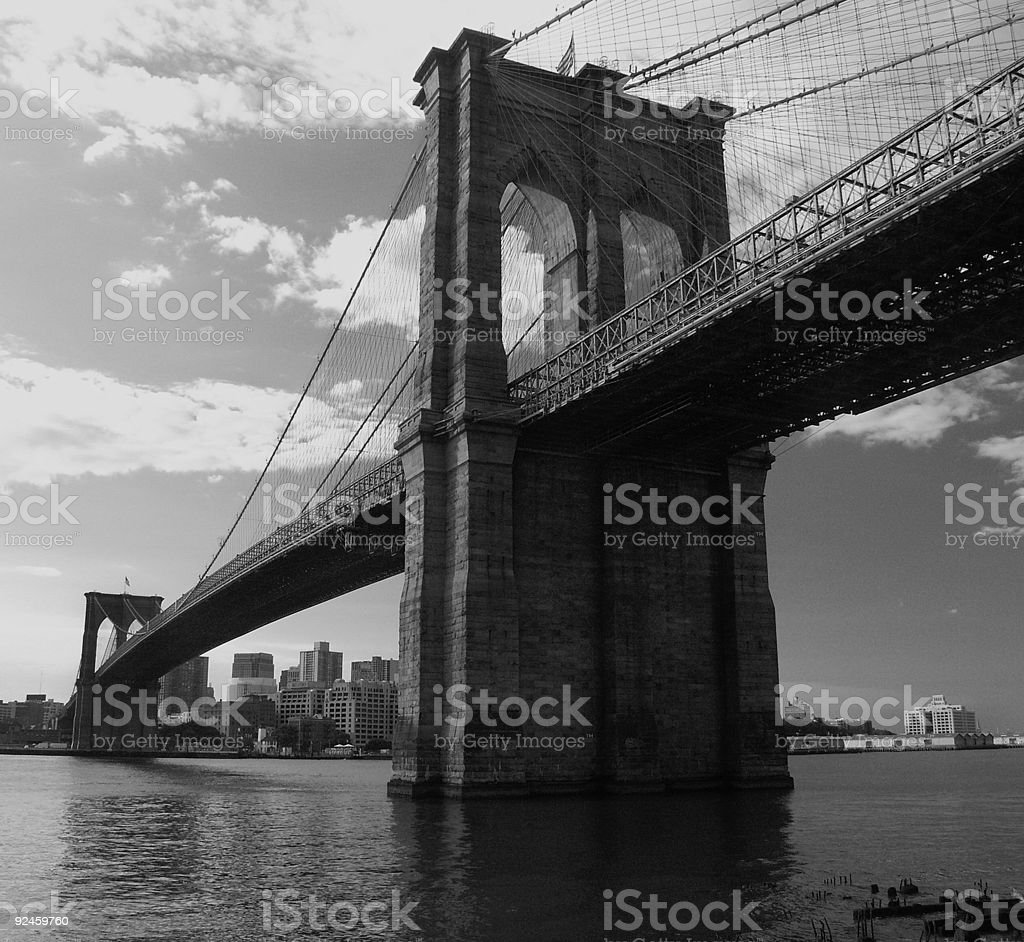 Brooklyn bridge during sunrise. royalty-free stock photo
